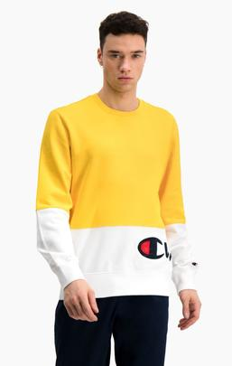 SUDADERA 214206/ YS022 YELLOW_WHITE/CHAMPION