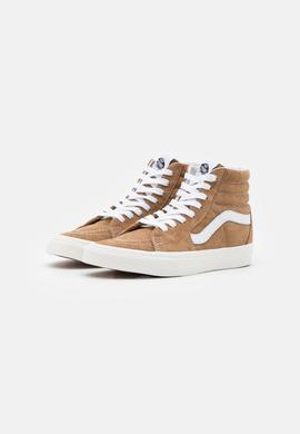 SK8-HI PIG SUEDE BROWN/SUGAR/WHITE VANS