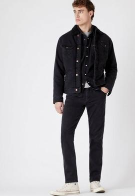 DENIM JACKET SHERPA BLACK WASHED WRANGLER