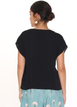viscose shirt black Pepa Loves