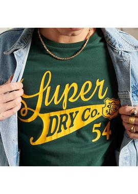collegiate camiseta verde Superdry