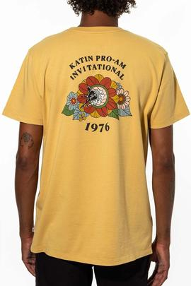 KATIN CAMISETA FLOWER POWER MOSTAZA