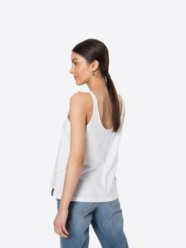 essential tank top blanco Superdry