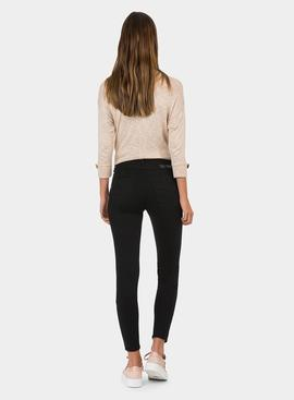 Jeans One Size Skinny Double-Up Negro Tiffosi para Mujer