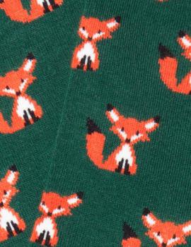 Calcetines Fox Dark Green Jimmy Lion para Hombre