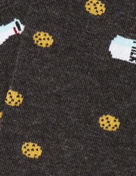 Calcetines Cookies - Milk Dark Grey Jimmy Lion Hombre