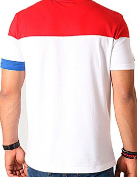 Camiseta Tricolor Optical white Le coq para Hombre