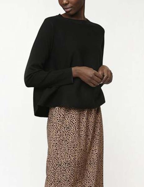 Compa/ñia Fantastica Jersey Mujer Evase Negro