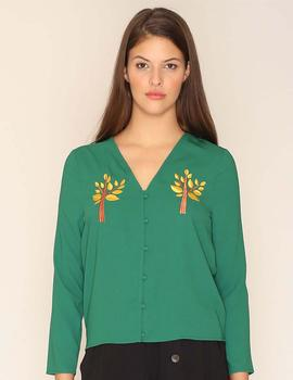 Top Bordad Tress Verde Pepa Loves para Mujer