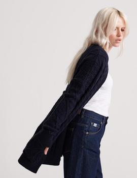 Cardigan Lannah Cable Eclipse Navy Superdry