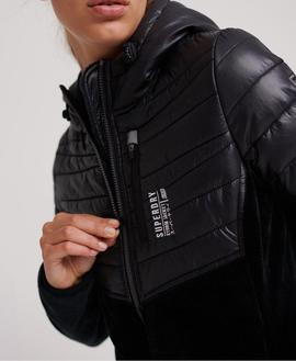 Chaqueta Storm Panel Hybrid Negro Superdry para Mujer