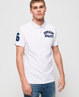 Polo Superstate Classic White Superdry para Hombre