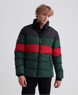 Color Stripe Sports Puffer Verde Superdry para Hombre
