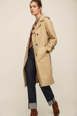 Trench London Camel Ese O Ese Mujer