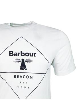 Camiseta Outline Blanco Barbour Hombre