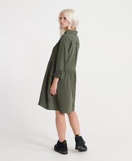 Vestido Military Shirt Verde Superdry Mujer