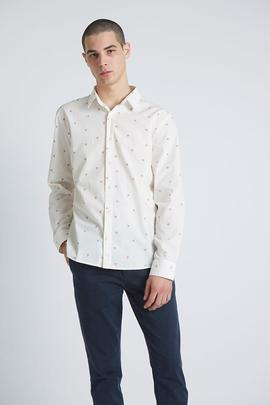 Camisa Thorn Roses Blanco Tiwel Hombre