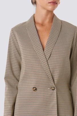 blazer light beige check/rut