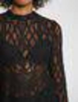 Blusa m/l Black/ Crochet/ Morgan