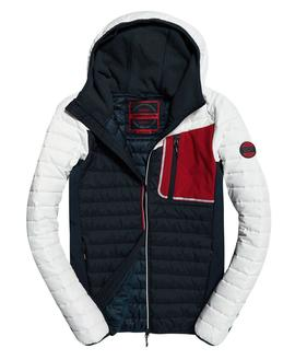 convection hybrid jacket/white/superdry