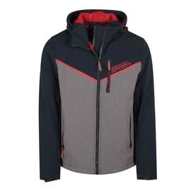 hooded paralex windtrekker/grey/superdry