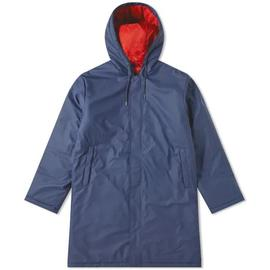 padded coat rains / Blue