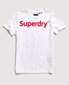 T-shirt Logo/ White/Superdry