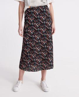 Canyon Midi Skirt/ Abstract Camo/Superdry