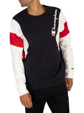 Sudadera/ Blue Night-White/ Champion