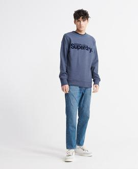 Sudadera Core/ Blue Marl/ Superdry