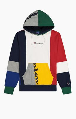 Colour Block Patchwork Hoodie