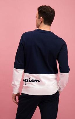 Colour Block Logo Wraparound Logo Sweatshirt