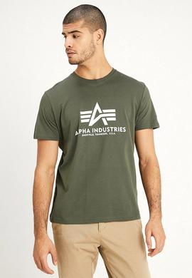 BASIC T SHIRT / DARK OLIVE/ ALPHA
