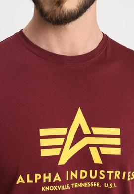 BASIC T SHIRT/ BURGUNDY / ALPHA