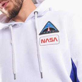 SPACE CAMP HOODY/ WHITE /ALPHA