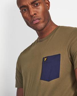 T-shirt ts831ve2/ Khaki_navy/ Lyle-Scott