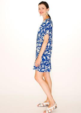 Sealife Buttoned Dress/ Blue/Pepa Loves