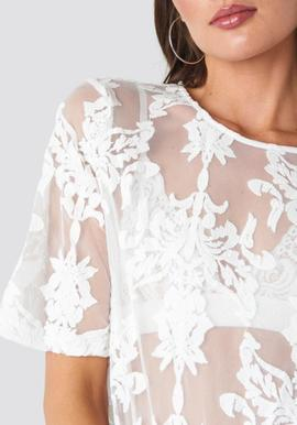 ella lace top / white / rut and circle