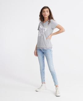 Tee Tilly Lace Graphic/ Grey Marl/ Superdry